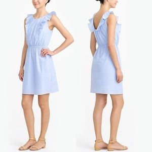 NWT JCrew ruffle shoulder dress
